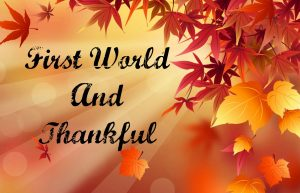 First World and Thankful (Top Ten Tuesday on Wednesday)